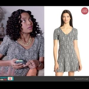 Theory Nikay Printed Dress in Parcel Knit
